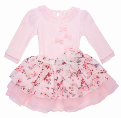 Mintini Baby Girls Spanish Style Romany Floral Skirt & Bodysuit Top Outfit SS'18