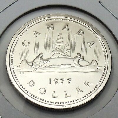 1977 Canada Dollar Proof One Dollar Canadian Coin Not In Case E749