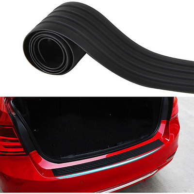 Black Door Sill Guard Car SUV Body Bumper Protector Trim Cover Protective Strip