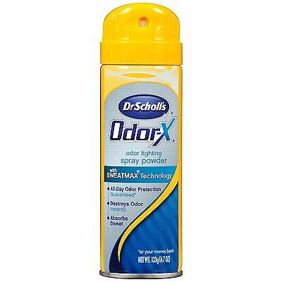 Dr. Scholl's Odor-X Odor Fighting Spray Powder Sweatmax Technology 4.7 OZ