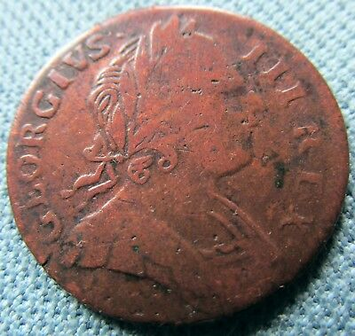 1773 King George III British US Colonial Non Regal Farthing - Historic Old Coin