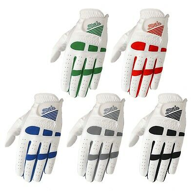 5 SG Men golf gloves Cabretta leather palm and thumb synthetic back multi colors