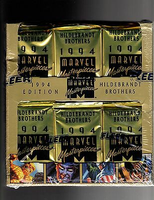 1994 Fleer Marvel Masterpieces Factory Sealed Jumpo Box 36ct.GOLD HOLOFOIL