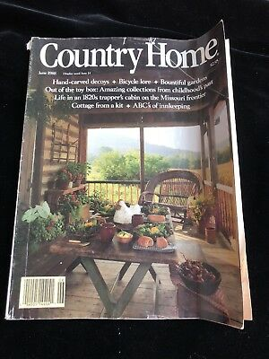Country Home magazine  vintage issue June 1988