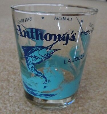ANTHONYS Anthony's FISH GROTTOS on-the-rocks Bar GLASS San Diego La Jolla +