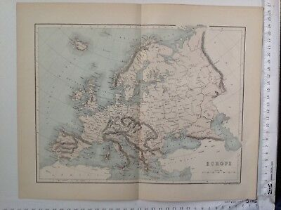 Europe,  1859  Antique Map,  Original