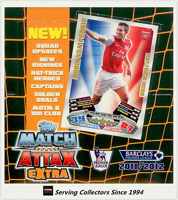 1 BOX OF 2011-12 Topps Match Attax EXTRA Soccer Trading Card Booster Box(24 Pks)