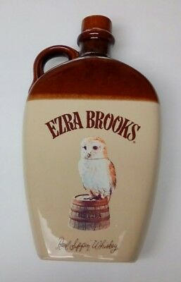 Vintage Ezra Brooks *Empty* Real Sippin Whisky Owl Decanter.