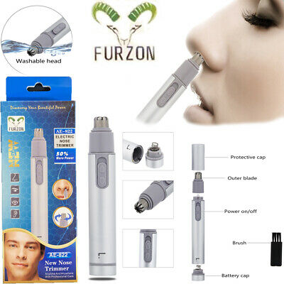 Nose Nasal Ear Face Eyebrow Hair Removal Remover Shaver Trimmer Clipper Groomer.