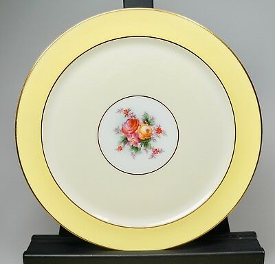 Vtg 10 Luncheon Plates Crescent George Jones & Sons Yellow Cream Gold 8.75""