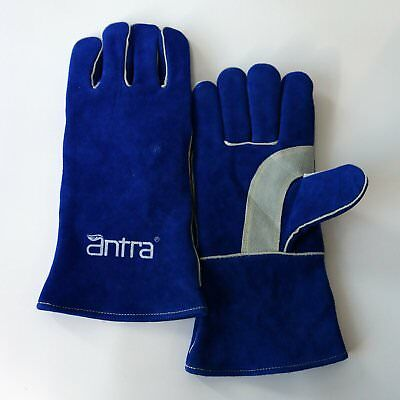 Antra™ Premium Leather Split Cowhide Welding Gloves with Cushion Liner