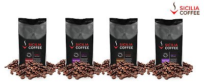 1kg STRONG SAMPLER Coffee Beans - 4 x 250g Packs FREE POSTAGE