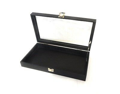 Glass Top Lid Pad Display Case Box Jewelry Knife Medals Lid Support