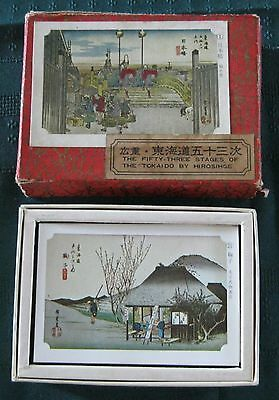 Vintage Fifty-Three Stages of Tokaido by Hirosihge 54-Card Deck (1950s)