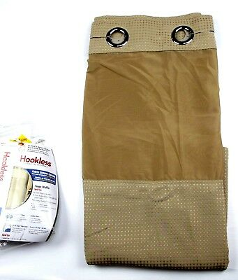 Hookless Shower Curtain Waffle 71 X 86 Long Fabric In Taupe Snap