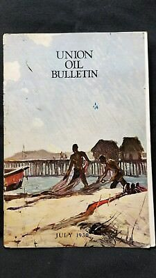 Union Oil Bulletin Employee Vtg Aviation and Automobile 76 Rare July 1930
