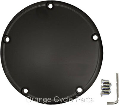 Derby Cover Flat Black Domed for Harley Breakout 1999-2016