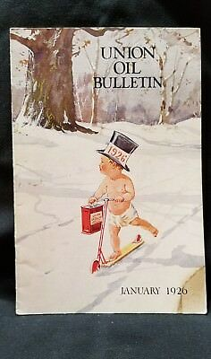 Union Oil Bulletin Employee Vtg Aviation and Automobile 76 Rare January 1926