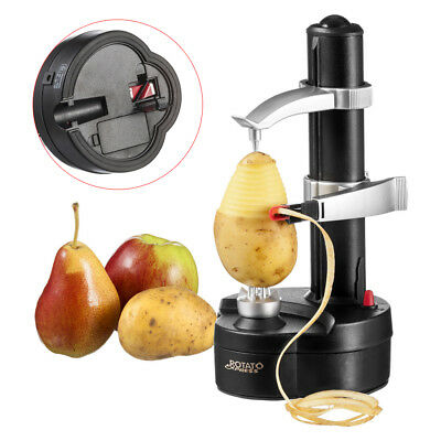 Electric Fruit Apple Pear Automatic Potato Peeler Cutter Slicer Kitchen Peeler