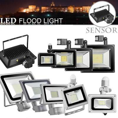 LED Flood Light 100W 50W 30W 20W 10WPIR Motion Sensor Outdoor Security Spot Lamp