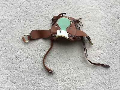 Breyer Horse Traditional Accessory Western Saddle Green Tan Hot Colors Tack