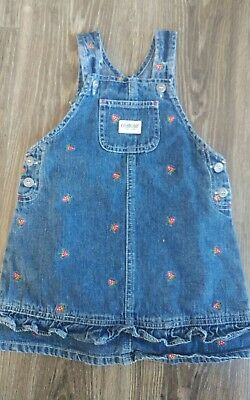 vintage oshkosh jumper strawberry  ruffle bottom vestback size 3t