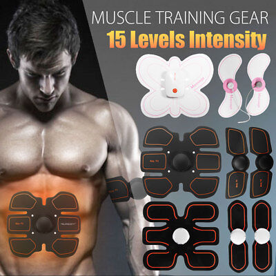 15 Intensity Muscle ABS Stimulator Training Gear Trainer Body Home Exercise Fit
