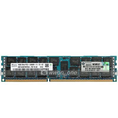 New Hynix 16GB 2Rx4 PC3-12800R DDR3-1600Mhz 240Pin ECC Registered Server  Memory