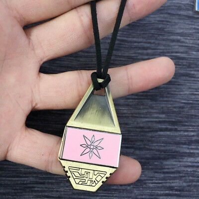 Digimon Adventure Knowledge Lzzy Emblem Tag Removable Magnetic Necklace