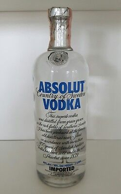 Absolut Vodka Blue 1Liter  Thin Cap / Oldstyle