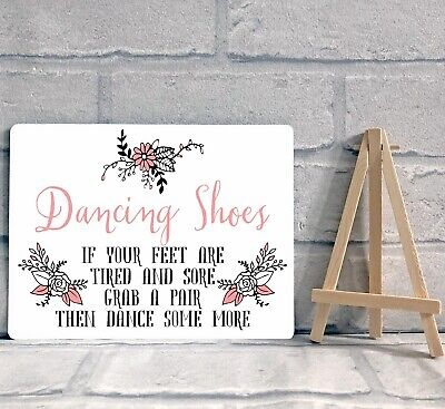 a2a64d196 A5 METAL DANCING Shoes Wedding Flip Flop Basket Sign Decoration ...