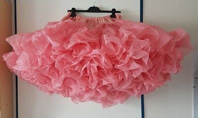 Traumhafter Crystal Magic Square Dance Petticoat 80 Yards ROSA