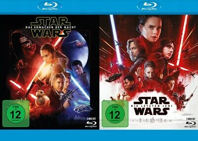 Star Wars: Episode VII (7) + Episode VIII (8) Set # 4-BLU-RAY-NEU