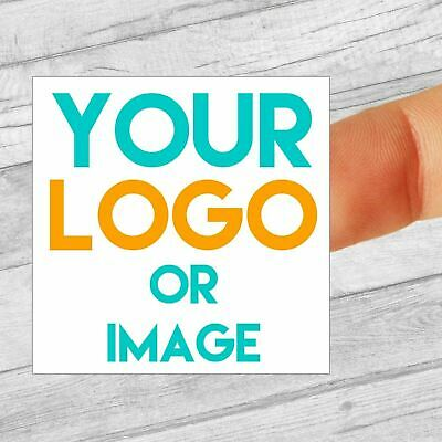 Custom Logo Labels/stickers 40mm Square Personalised Business/Company Name