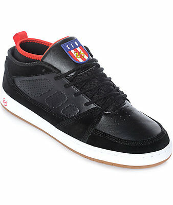 44e85c2b97cbbe ES SLB Mid Men s 10 Black Skate Shoes Skateboarding Suede Leather New NIB  Skater
