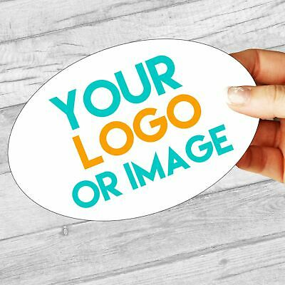 Custom Logo Large Oval 136mm x 90mm Personalised Company Name Labels/stickers