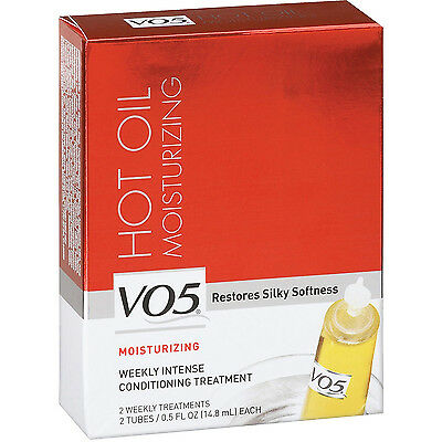 VO5 Hot Oil Moist Weekly Treatment: 2- 0.5 oz. tubes