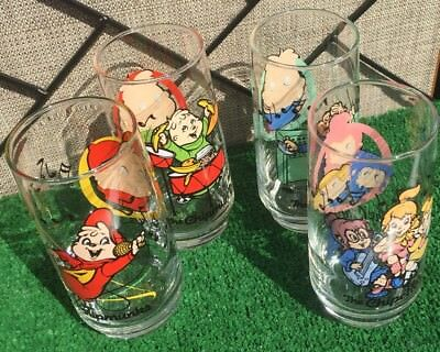 Alvin And The Chipmunks & The Chipettes Collectible Rare Find Glasses Set Of 4