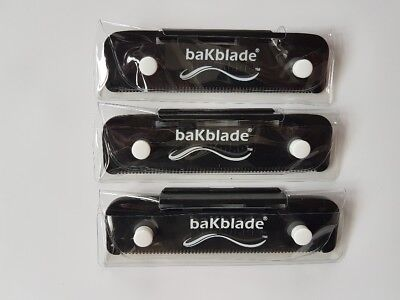 3X Bakblade Shaver Razor Replacement Blades Spare Blade Set Parts Backblade NEW