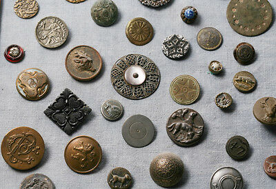 antique  vintage buttons from different eras