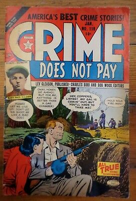 Crime Does Not Pay #118 Golden Age Lev Gleason 1953