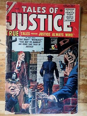 Tales Of Justice #61 August 1956 Marvel Atlas Comics John Severin Cover