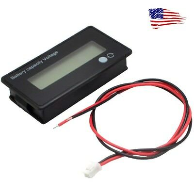 US 12V LCD Acid Lead Lithium Battery Capacity Indicator Voltmeter Voltage Tester