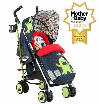 New Cosatto supa 2018 pushchair in monster arcade with footmuff & pvc from birth