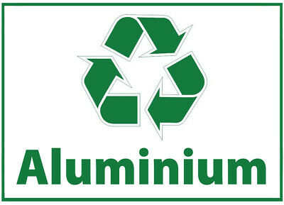 Aluminium Waste Bin Self Adhesive Printed Sticker  with Recycle Logo Sign