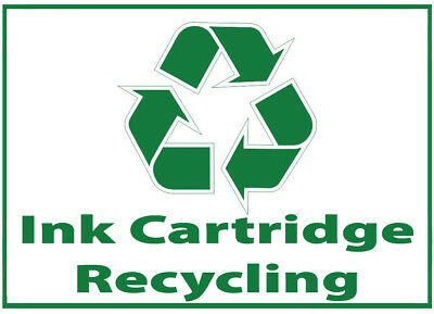Ink Cartridge Waste Bin Self Adhesive Printed Sticker with Recycle Logo Sign