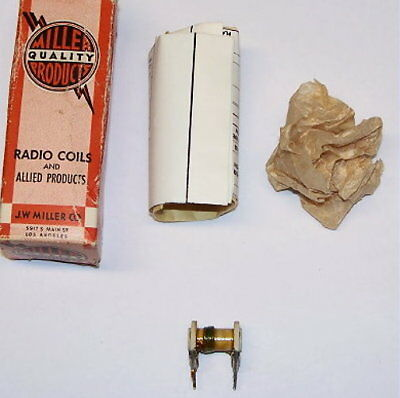 NOS JW Miller J.W. 47A125CPC vintage radio RF variable coil inductor PC mount