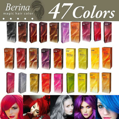 Use Colors 47 Hair Berina Permanent Cream Dye Style Professional   A1-A47 Shades