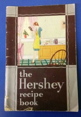 Vintage RARE 1930 Hershey Candy Chocolate Recipe Book In Color