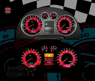 Audi TT 225-Quattro Roadster Speedometer dash bulb lighting upgrade dial kit